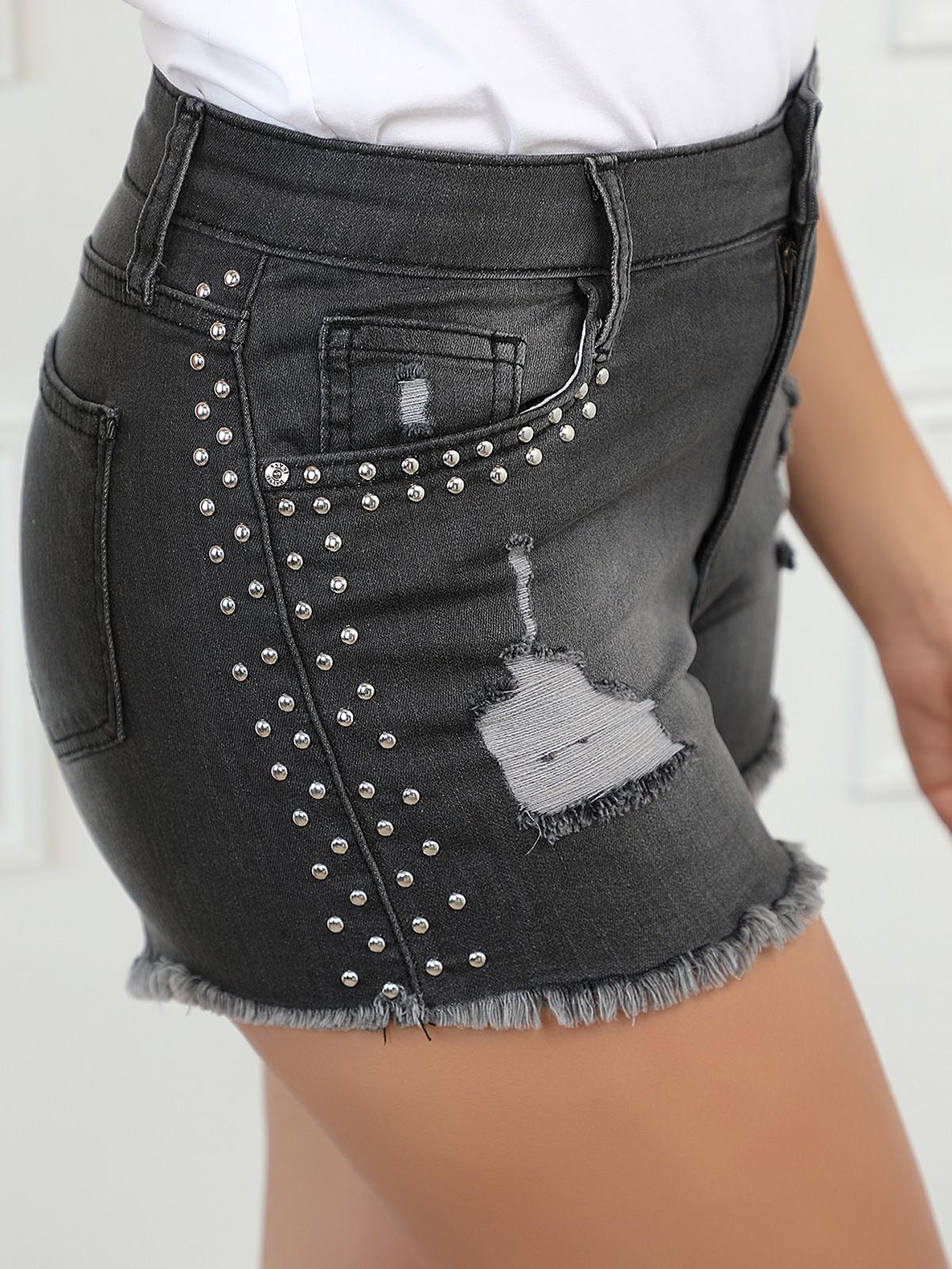Short en jean déchiré