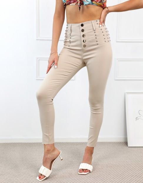 Pantalon skinny clouté