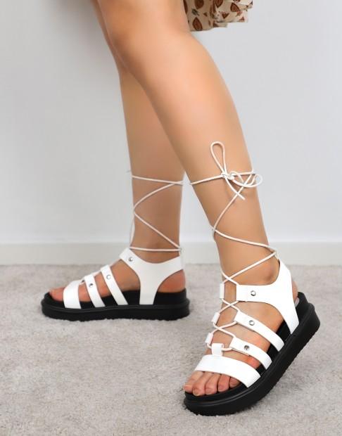Sandales plateformes  à lacets