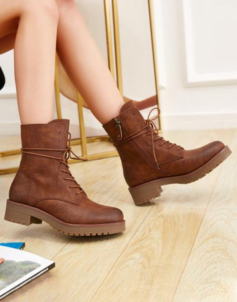 Bottines en simili cuir