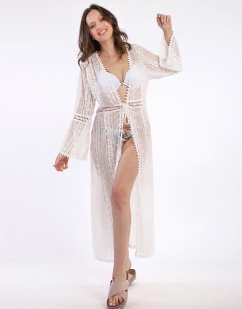 Kimono avec dentelle