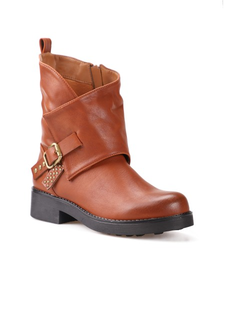 Boots à revers asymétriques