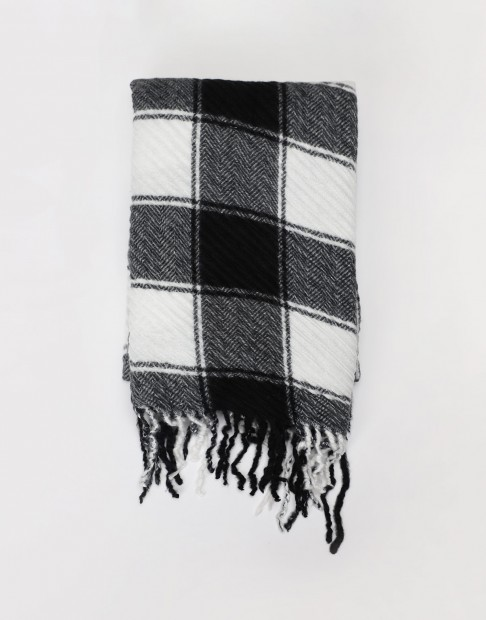 Écharpe plissée à carreaux