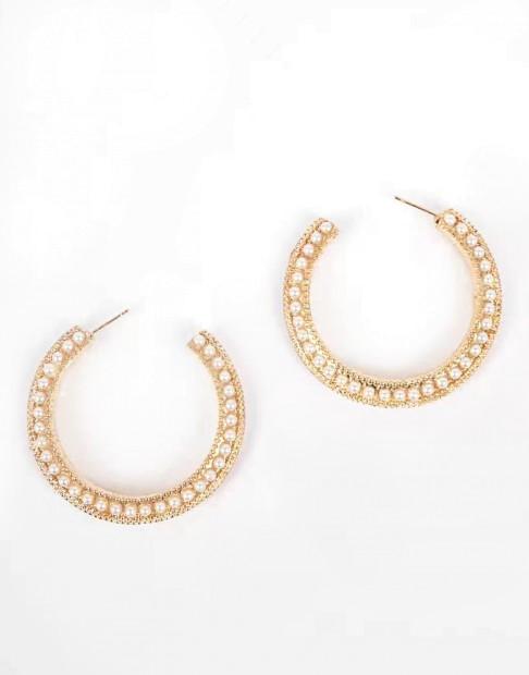 Créoles avec perles