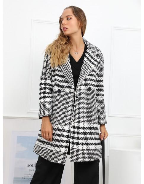 Manteau oversize avec imprimés