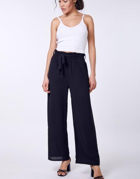 Pantalons larges ceinturée