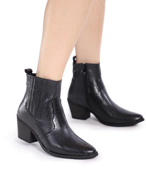 Bottines style santiags