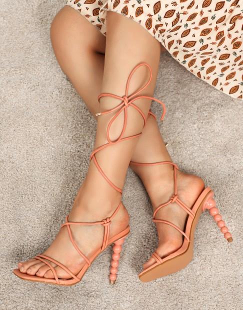 Sandales à talons  à bride de cheville
