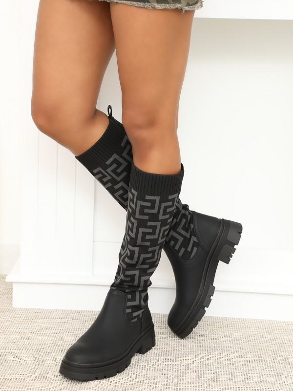 Bottes effet chaussettes