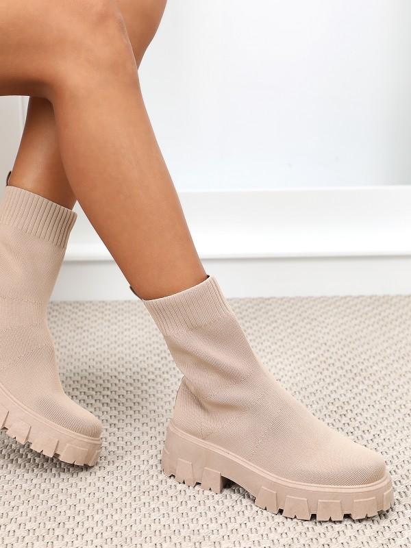Bottines effet chaussettes