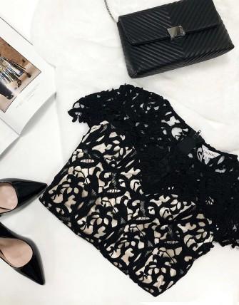 Robes dentelle - Noir
