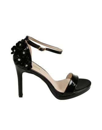 Sandales à talons - Noir