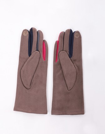 Gants tactiles smartouch - Taupe