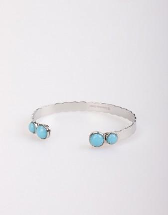 Bracelet Manchette Jonc Semi - Ouvert - Argent