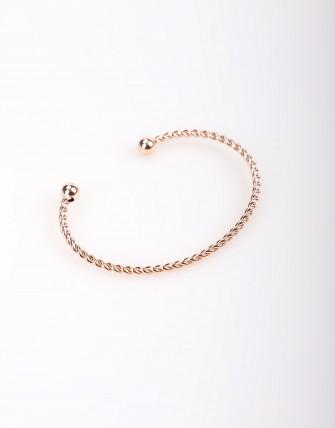 Bracelet manchette jonc semi-ouvert