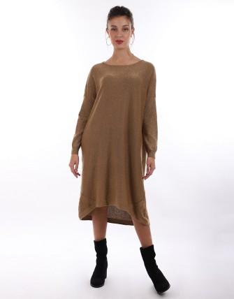 Robe pull oversize - Camel