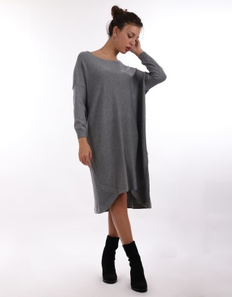 Robe pull oversize - Gris