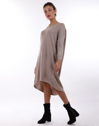 Robe pull oversize - Taupe