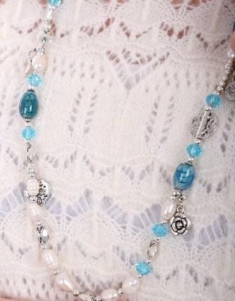 Collier avec pendentif tour de cou - Bleu