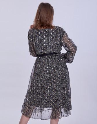 Robe longues évasée - Noir
