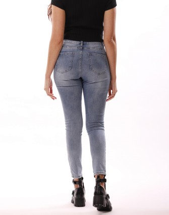 Jeans push up - Bleu