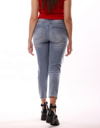 Jeans déchiré - Bleu