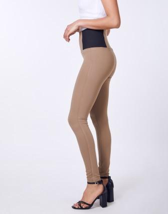 Legging taille haut - Camel