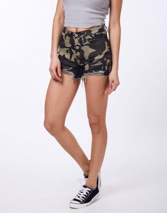 Short en jean - Camouflage
