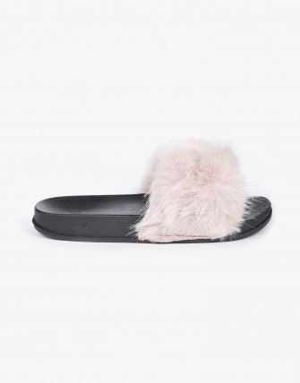 Sandales avec fourrure