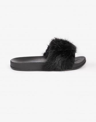 Sandales pantoufles - Noir