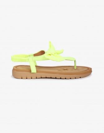 Sandales  semelles confort à nœud - Vert