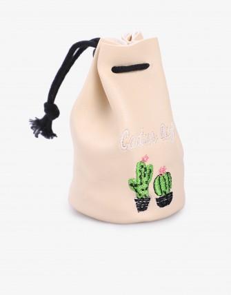Porte - Monnaie - Beige/cactus