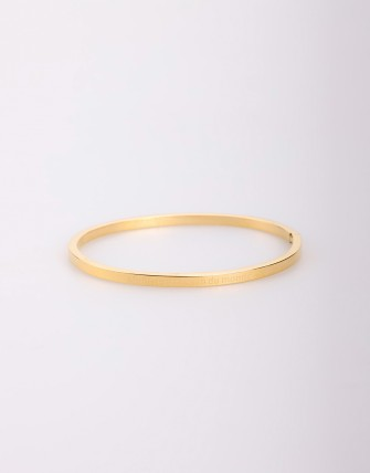 Bracelet rigide motif lettres - Or
