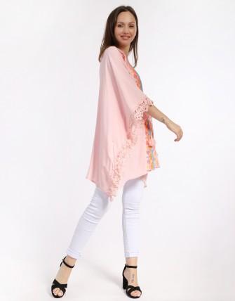Kimono  brodé - Rose
