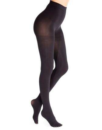 Collant opaque couleur unie (80 den) - Noir