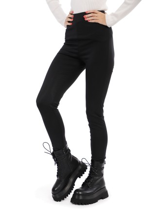 Legging noir tissu brillant - Noir