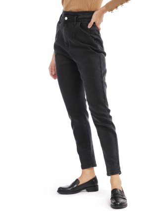Jeans droit femme - Noir