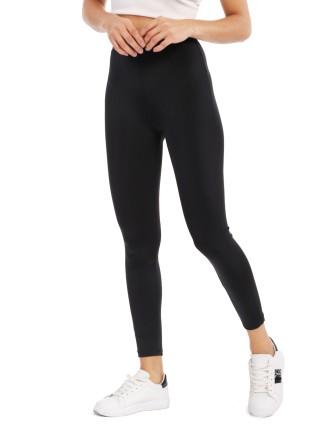 Legging noir tissu brillant-NOIR-34
