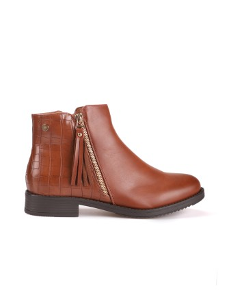 Boots bi - Matière - Camel