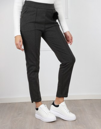 Pantalon à taille froncée