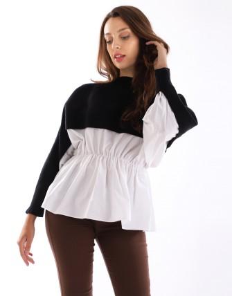 Pull chemise - Noir