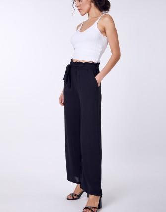 Pantalons larges ceinturée - Noir