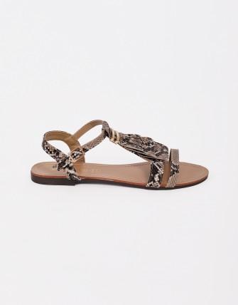 Sandales plates avec franges
