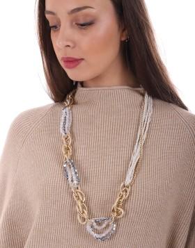 Collier chaine strass