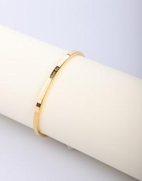 Bracelet rigide motif lettres