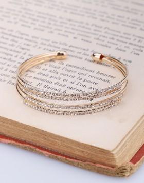 Bracelet rigide cercles strass